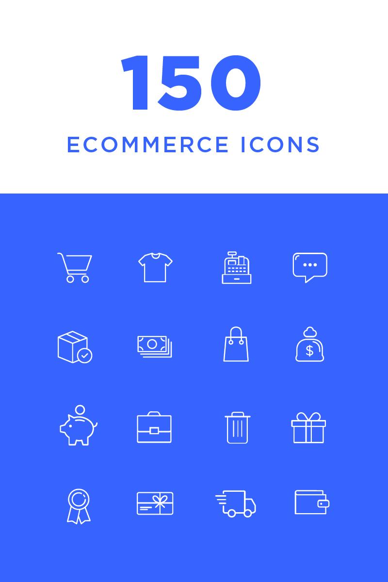 """Icon-Sammlungen Vorlage namens """"Ecommerce"""" #82210"""