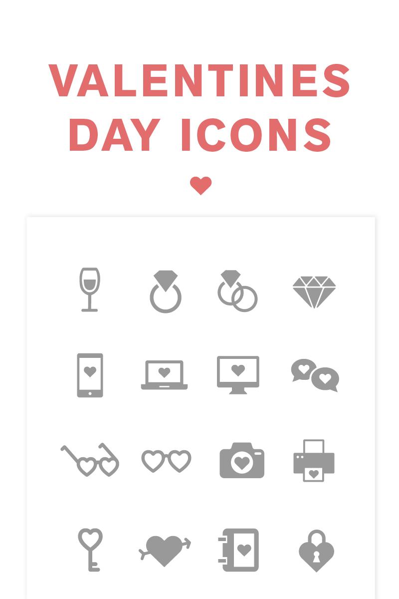 """Icon-Sammlungen Vorlage namens """"Valentine's Day"""" #82216"""