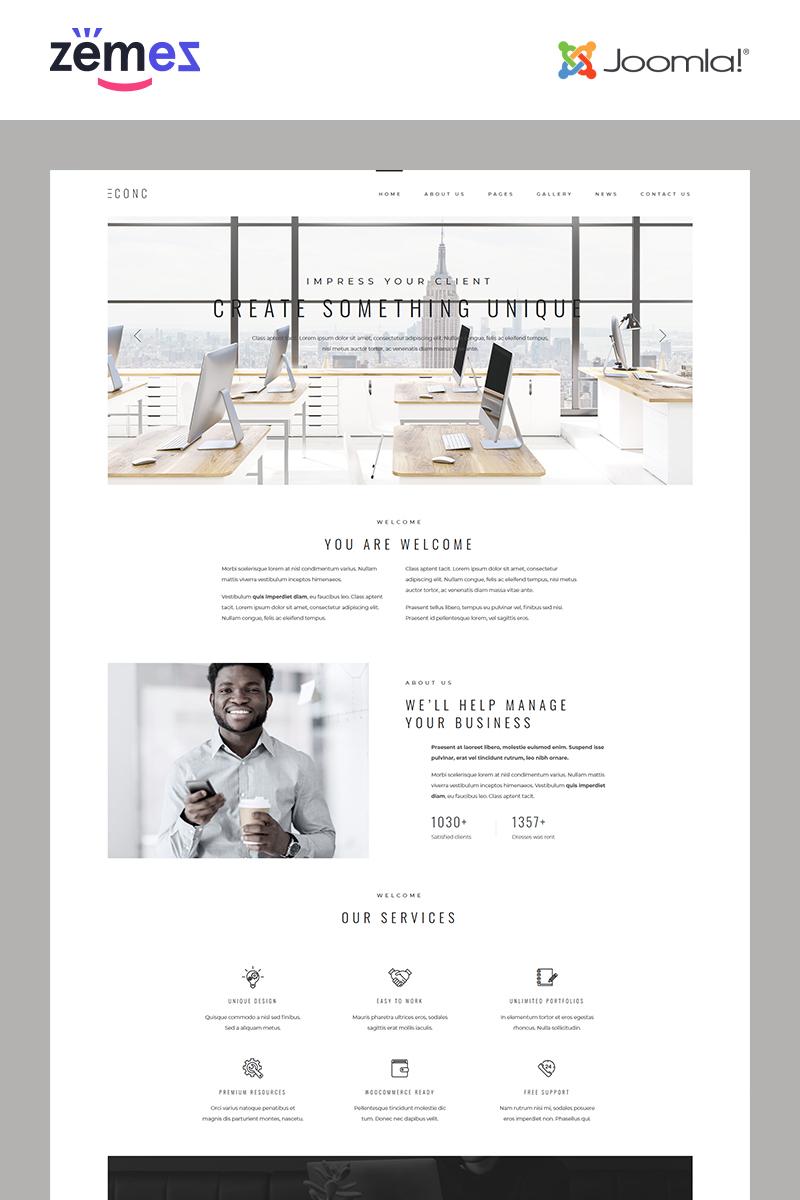 "Joomla Vorlage namens ""CONC - Management Company Responsive Modern"" #82201"