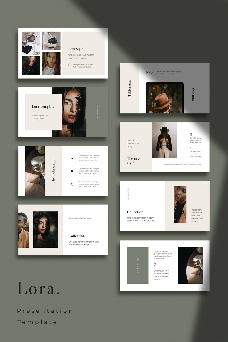 LORA - Modern and Simple PowerPoint Template