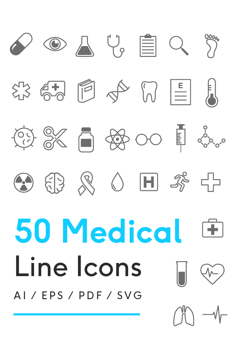 """Medical Line"" 图标集模板 #82266"