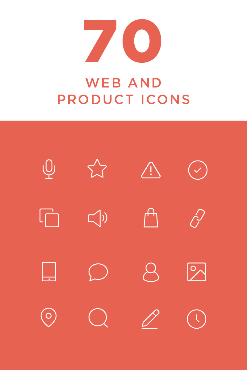 """""""Minimal Web and Product"""" 图标集模板 #82265"""