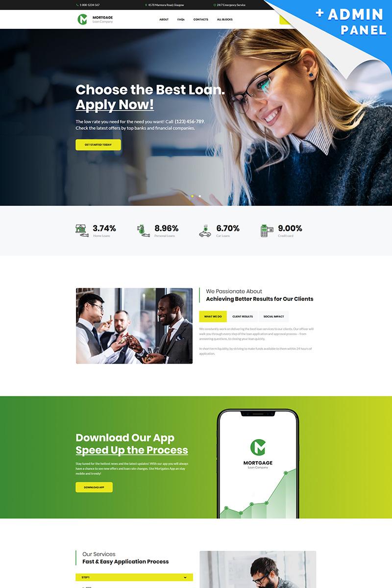 Mortgage - Loan Company Templates de Landing Page №82236