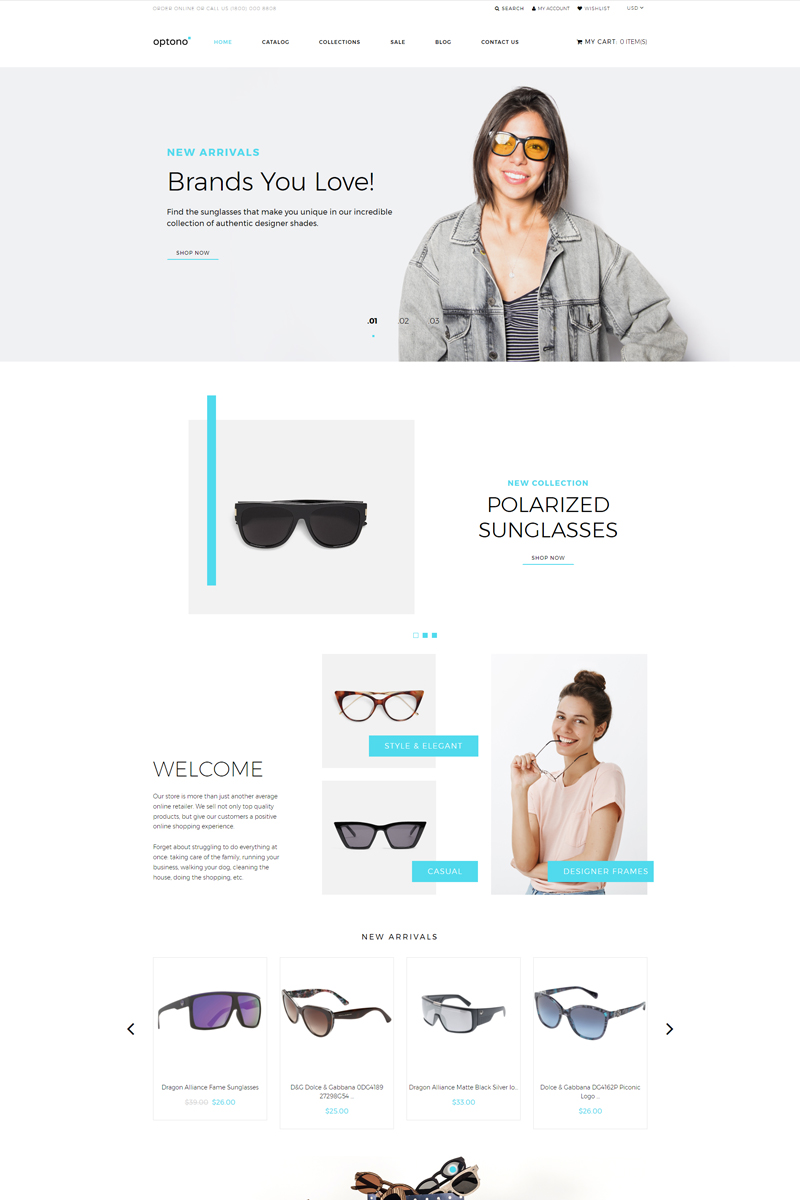 Optono - Eye Glasses Multipage Clean Shopify Theme