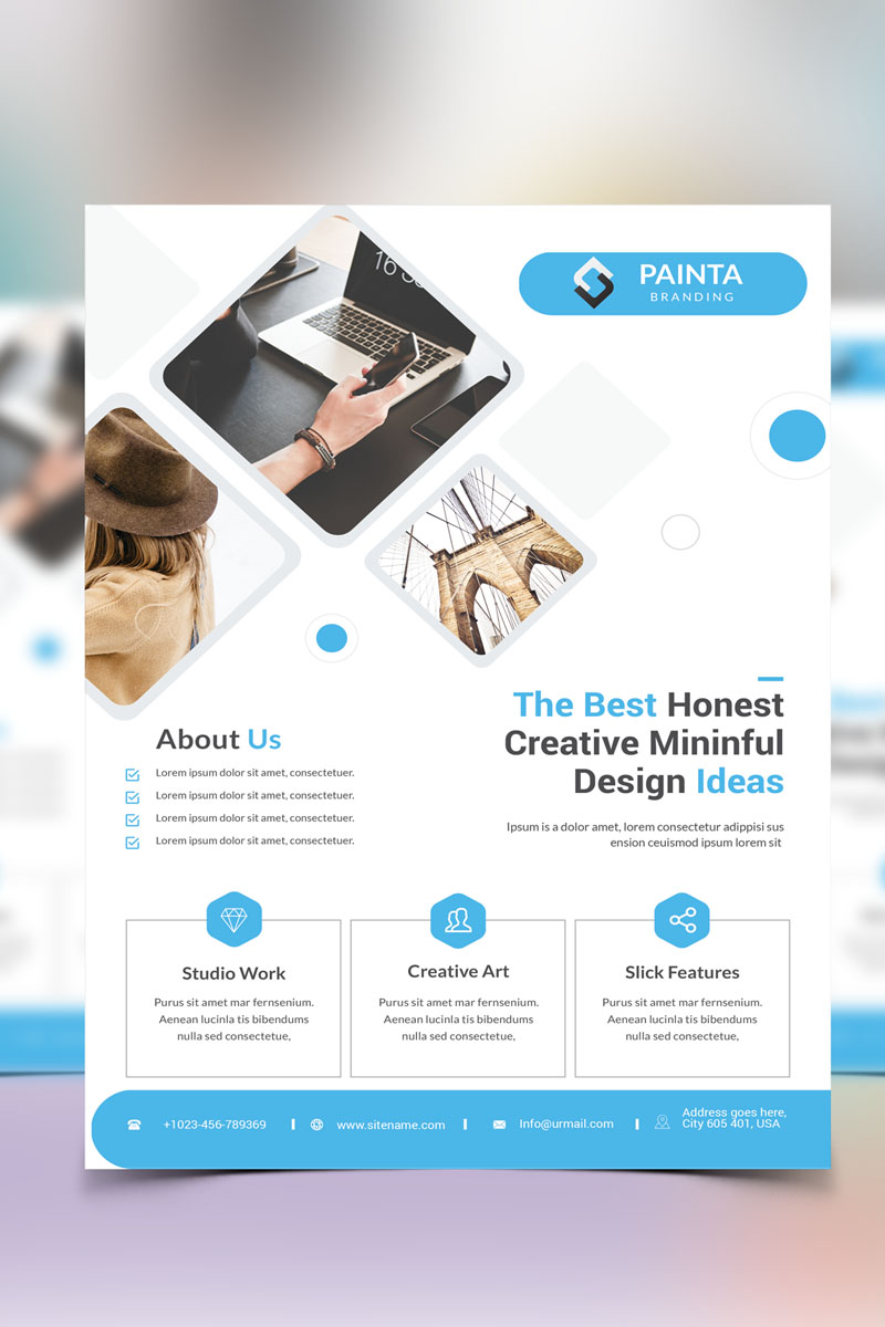 Painta -  Corporate Flyer Corporate Identity Template