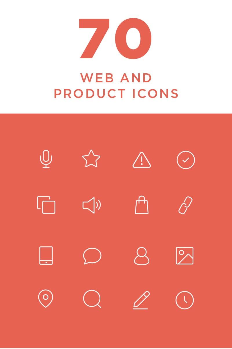 """Plantilla De Conjunto De Iconos """"Minimal Web and Product"""" #82265"""