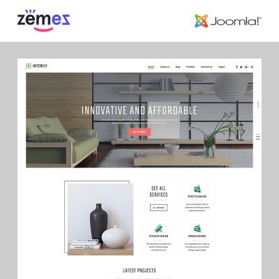 Responsive Plantilla Joomla #82202 para Sitio de  para Sitio de Diseño interior