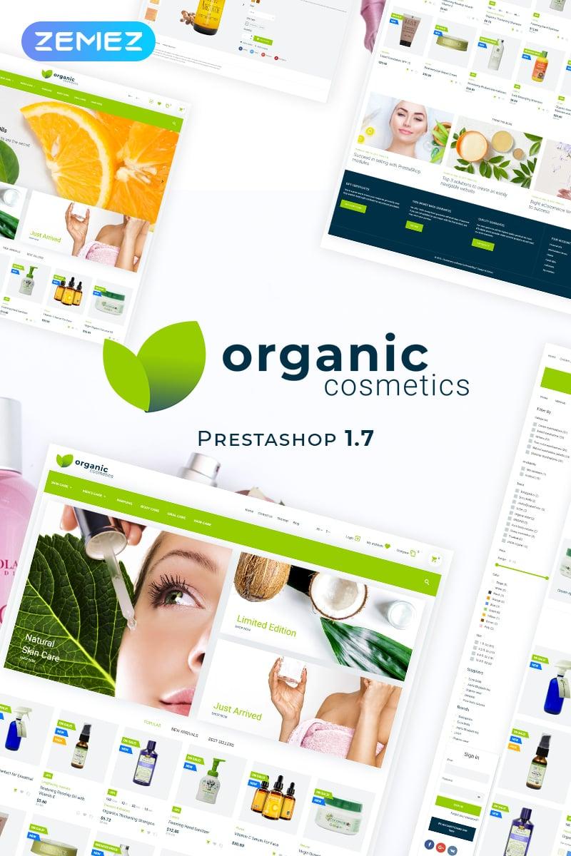 "PrestaShop Theme namens ""Organic Cosmetics - Beauty Treatment Store"" #82269 - Screenshot"