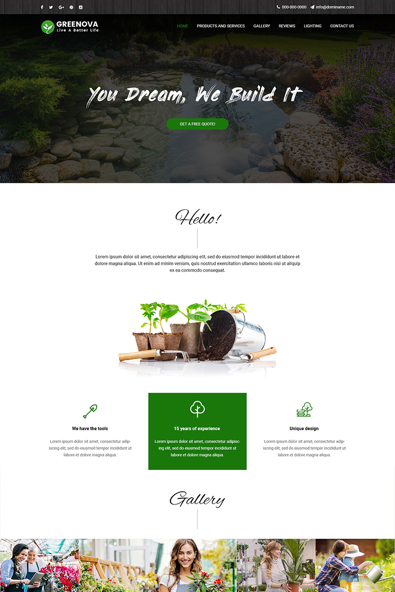 "PSD šablona ""Greenova - Landscaping Services"" #82203"