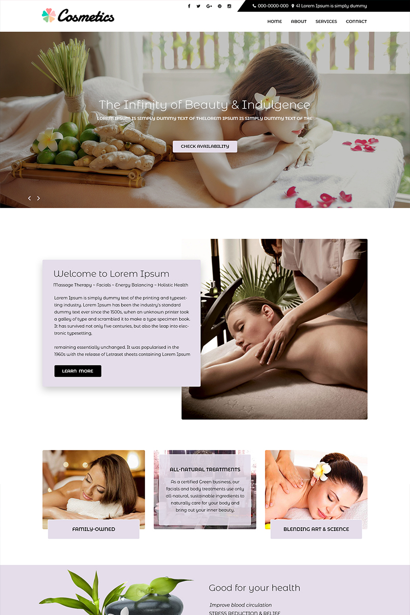 "PSD Vorlage namens ""Cosmetics - Beauty Spa Services"" #82294"