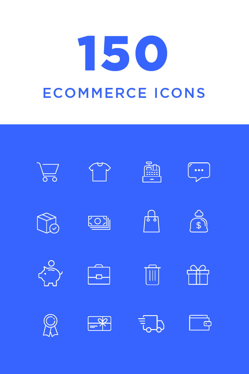 """Template Pacchetto Icone #82210 """"Ecommerce"""""""