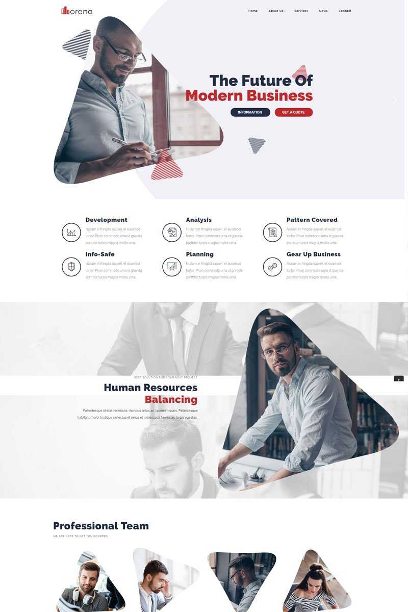 "Template WordPress Responsive #82267 ""Moreno Modern Business"""