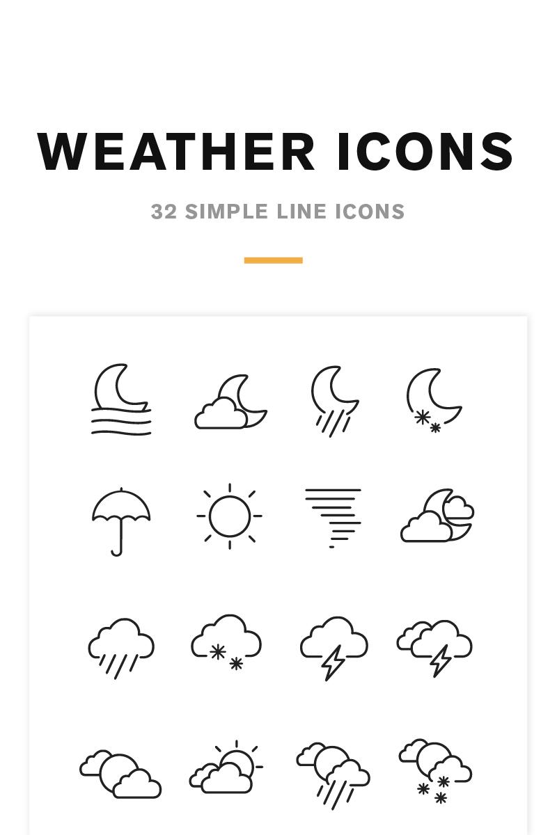 Weather Icons and Font Conjunto de Ícones №82209