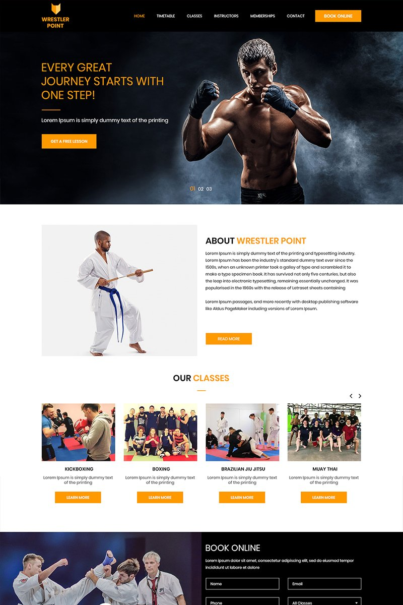 Wrestler Point - Wrestling PSD Template