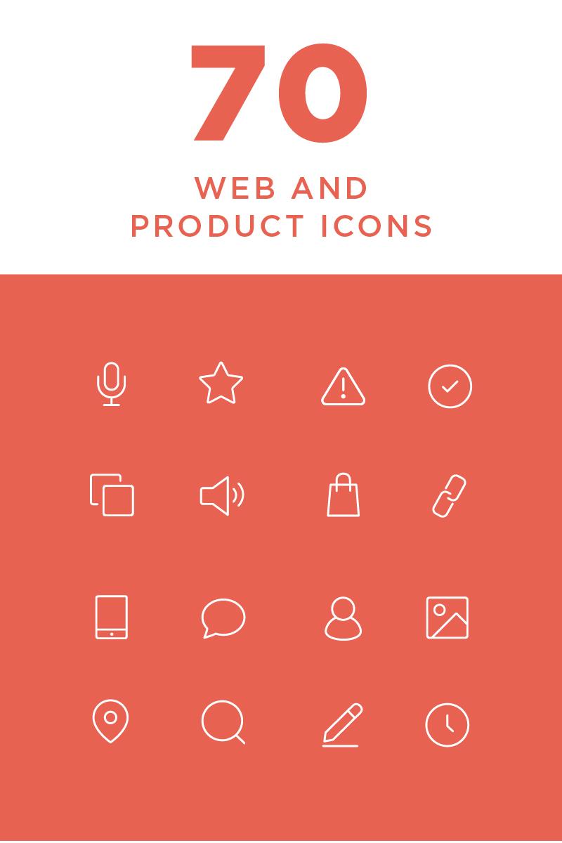 Zestaw Ikon Minimal Web and Product #82265
