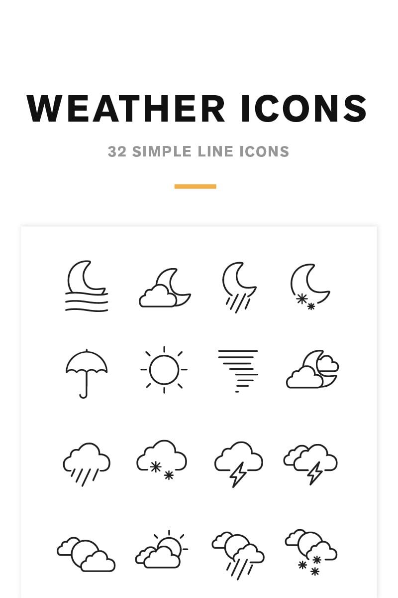 Zestaw Ikon Weather Icons and Font #82209