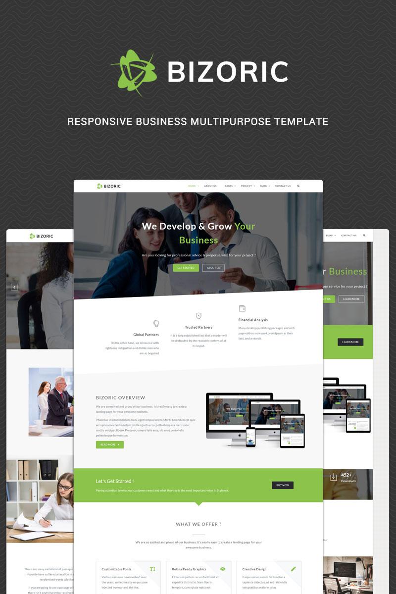 """Bizoric - Responsive Multipurpose HTML"" - адаптивний Шаблон сайту №82381"