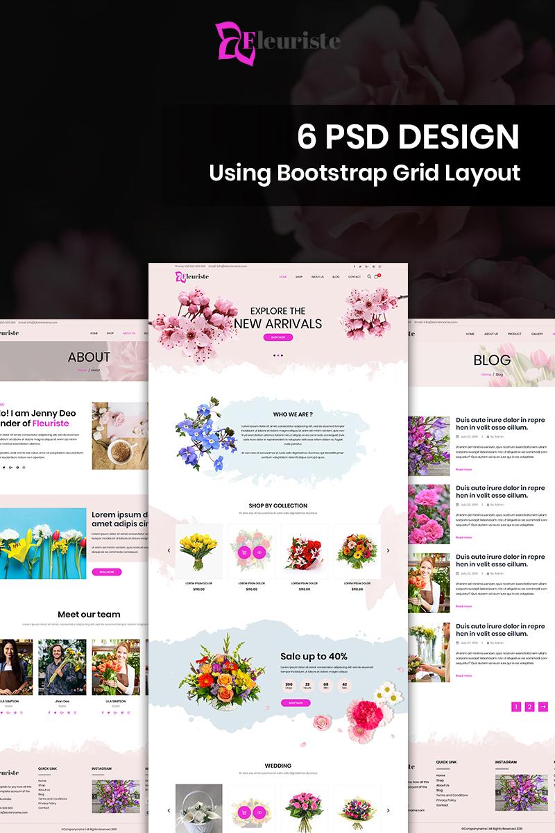 Fleuriste 2.0 - Flower Shop PSD Template