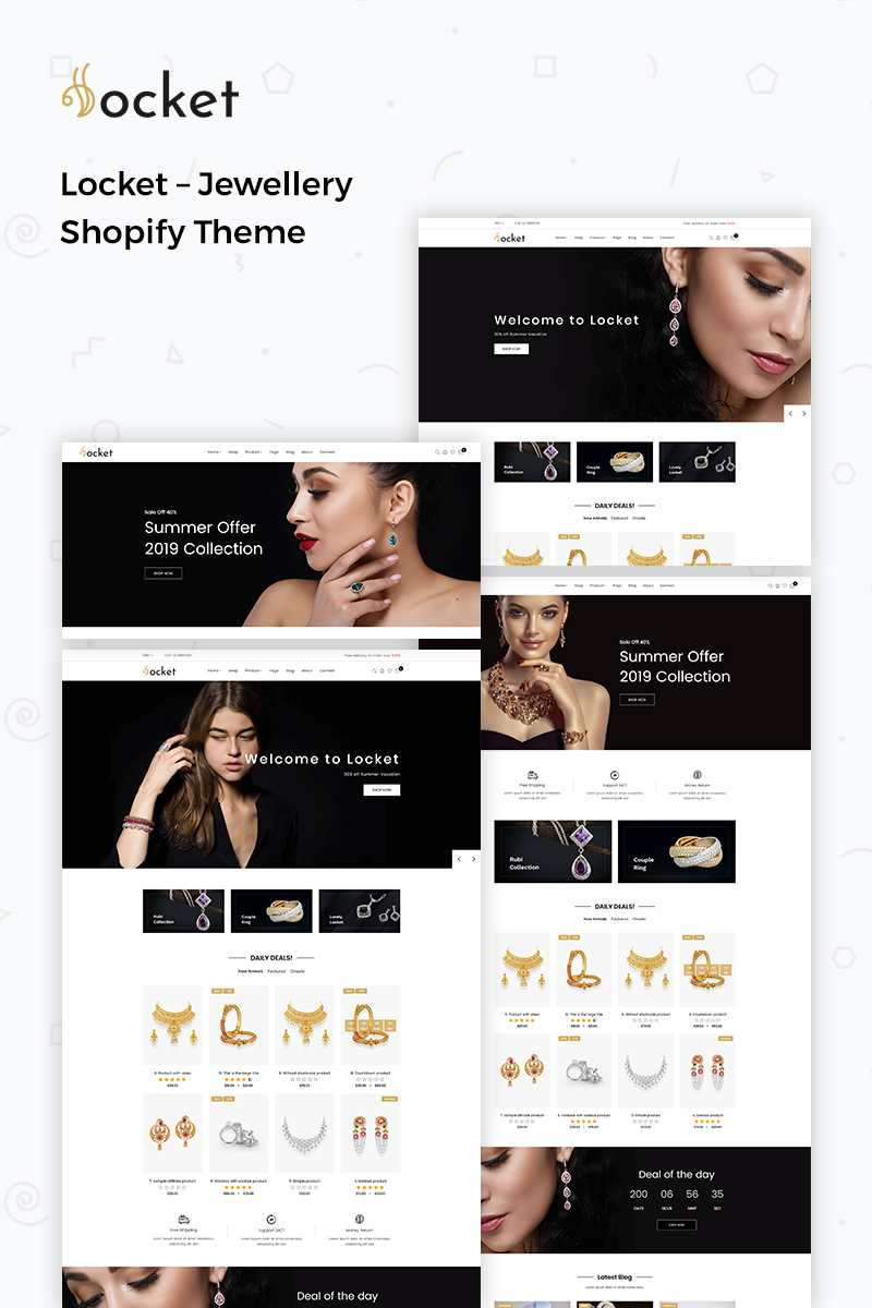Locket - Jewellery Shopify Theme