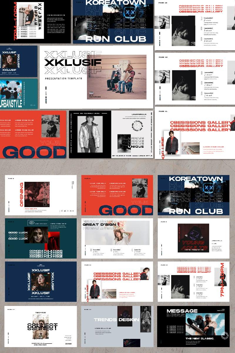"""Luxusní Šablona pro Keynote """"XKLUSIF -"""" #82318"""