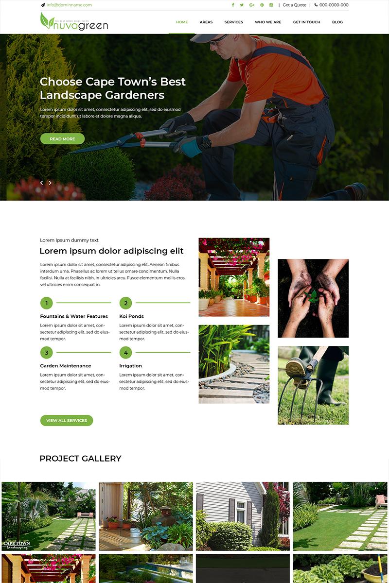 """Nuva Green - Landscaping Services"" - PSD шаблон №82317"