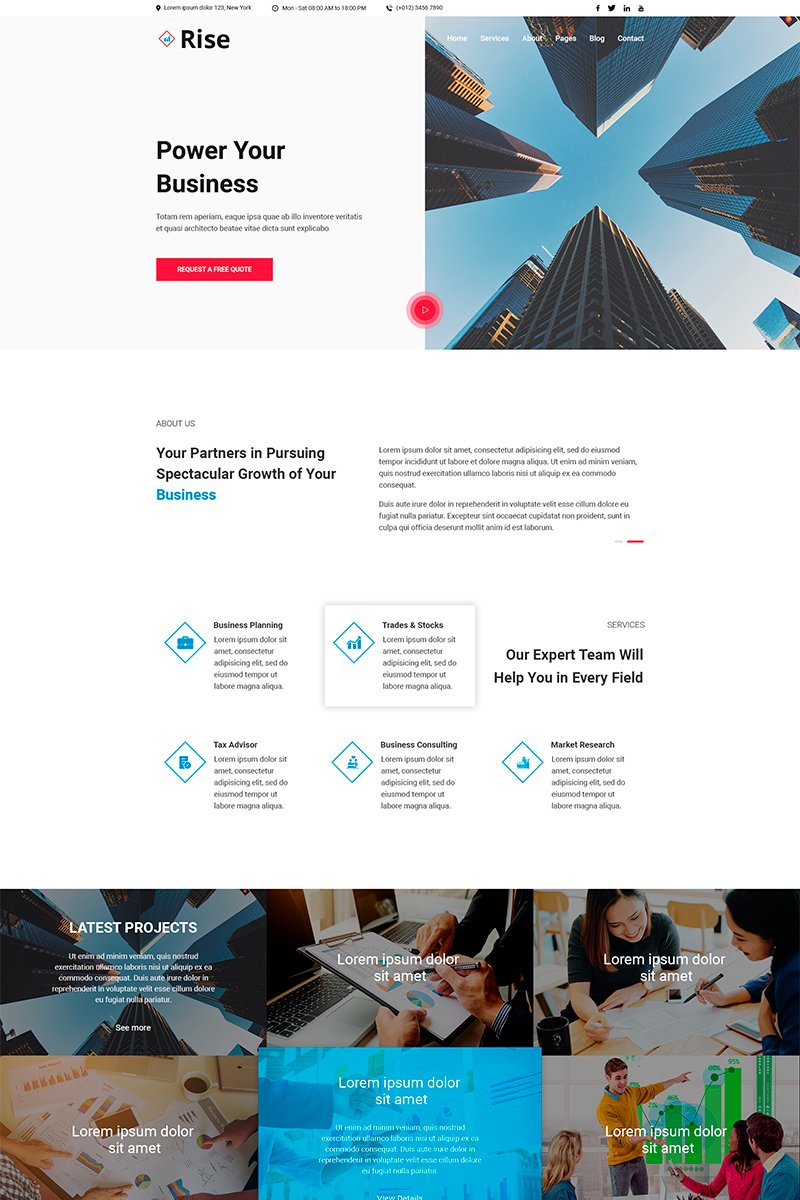 Rise | Consulting PSD Template