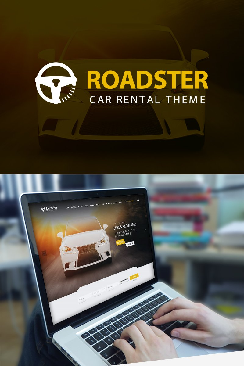 """Roadster - Car Rental"" WordPress thema №82387"