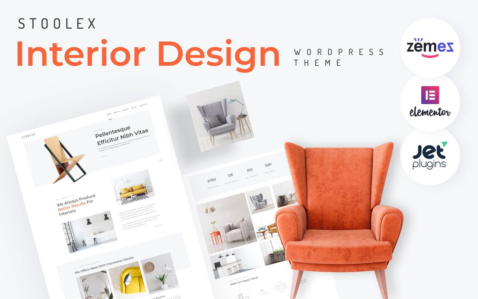 Stoolex - Interior Design Multipurpose Minimal Elementor WordPress sablon 82329