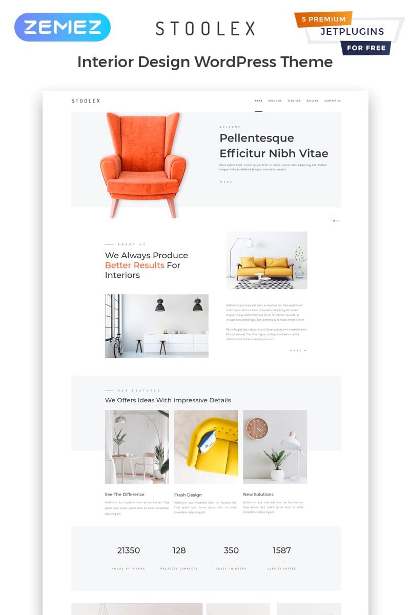 "WordPress Theme namens ""Stoolex - Interior Design Multipurpose Minimal Elementor"" #82329"