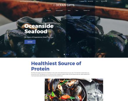 Ocean Gifts - Sea Food Shop Modern Shopify Theme