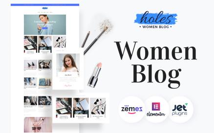 Holes - Women Blog Multipurpose Classic Elementor WordPress Theme