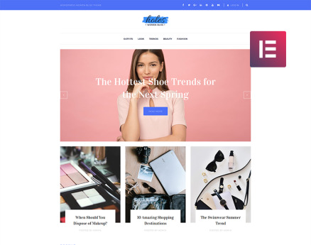 Holes - Women Blog Multipurpose Classic Elementor WordPress Theme