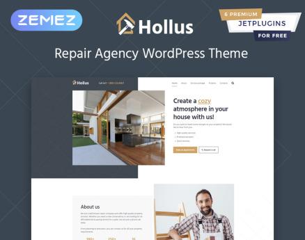 Hollus - Repair Services Multipurpose Modern Elementor WordPress Theme