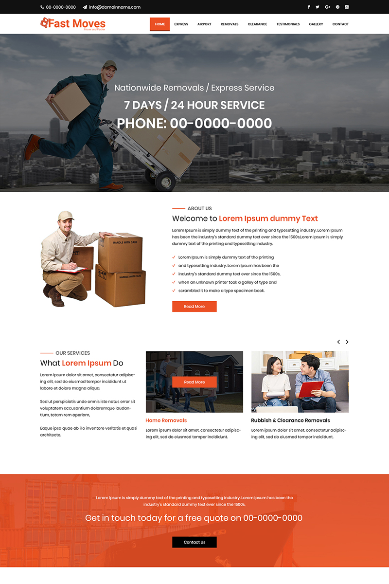 Fast Moves - Movers And Packers PSD Template