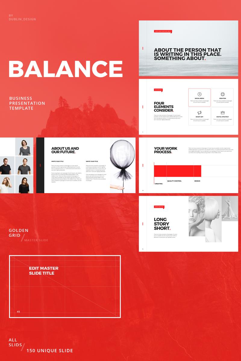 Prémium Balance Keynote sablon 82499