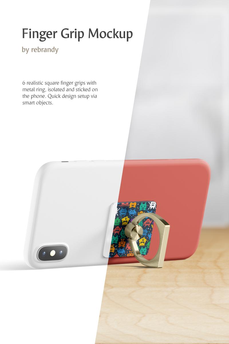 Produktowy mockup Finger Grip #82408 - zrzut ekranu