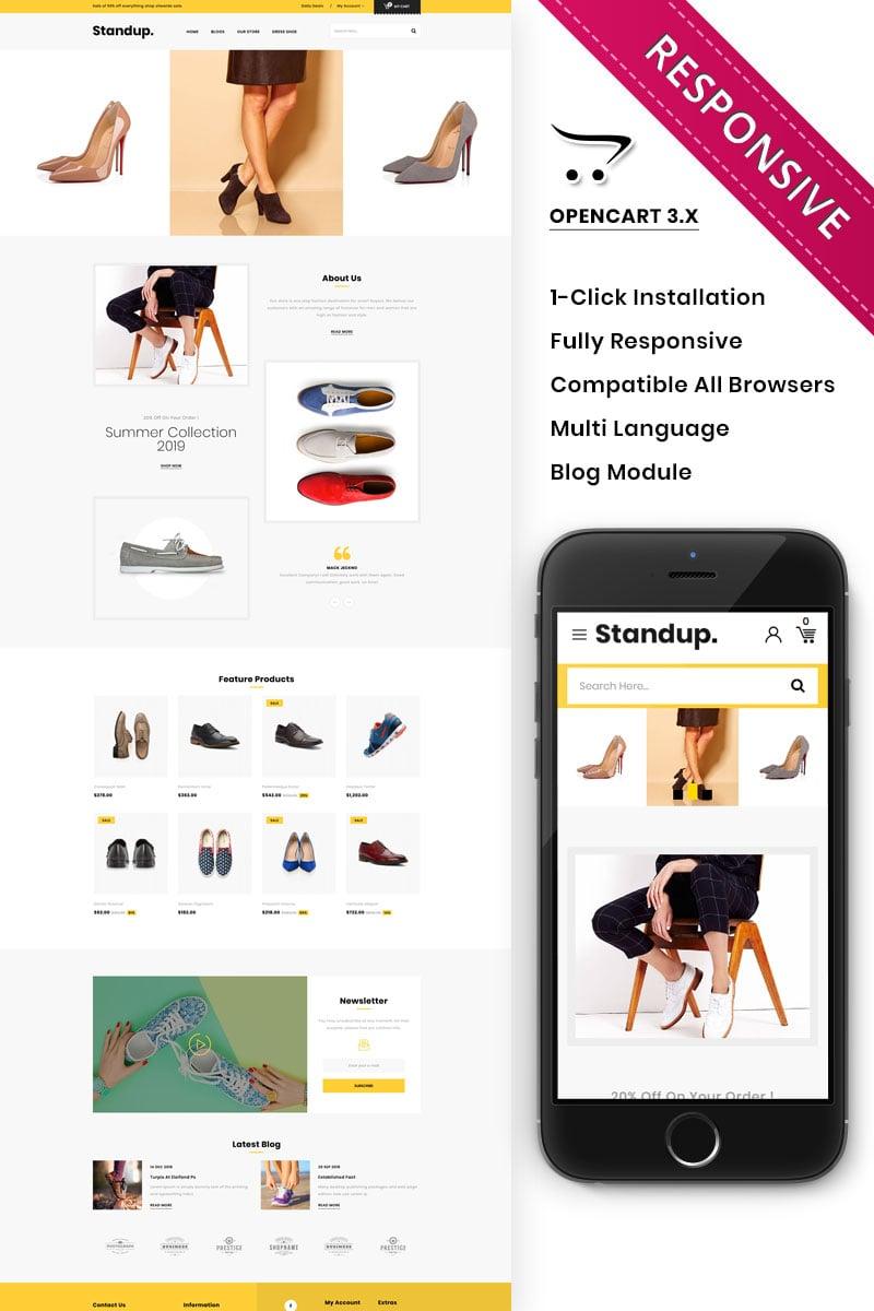Standup - The Shoe Shop OpenCart Template
