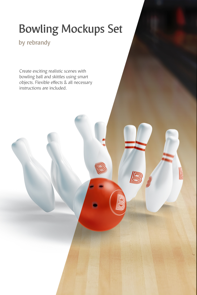 Bowling Set Product Mockup 82523