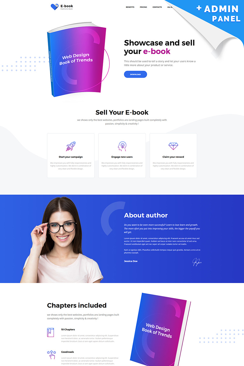 E-book - Electronic Book Landing Page Template