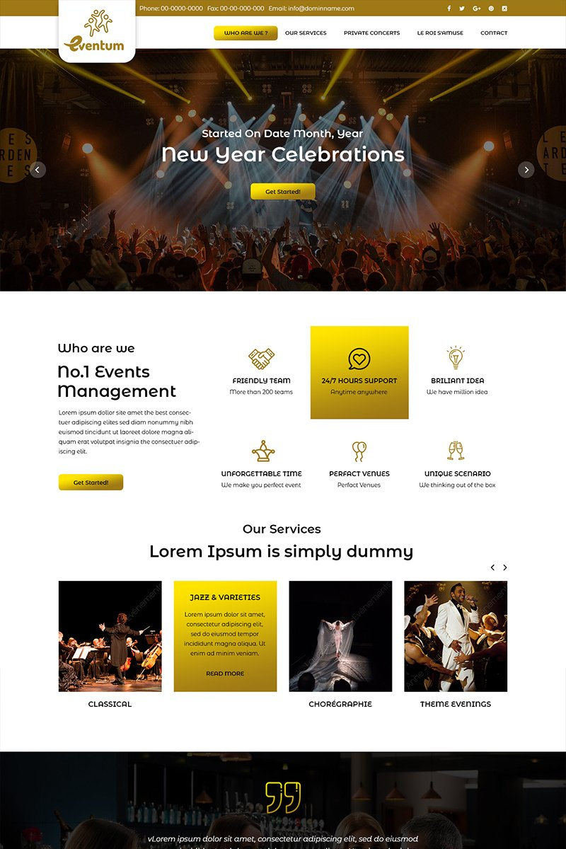 Eventum - Event Management PSD Template