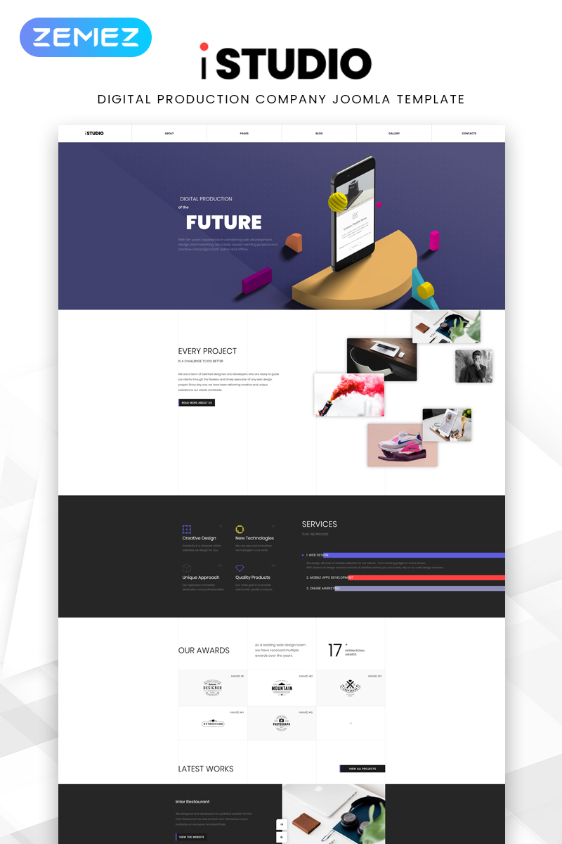 iStudio - Web Development Creative Joomla Template