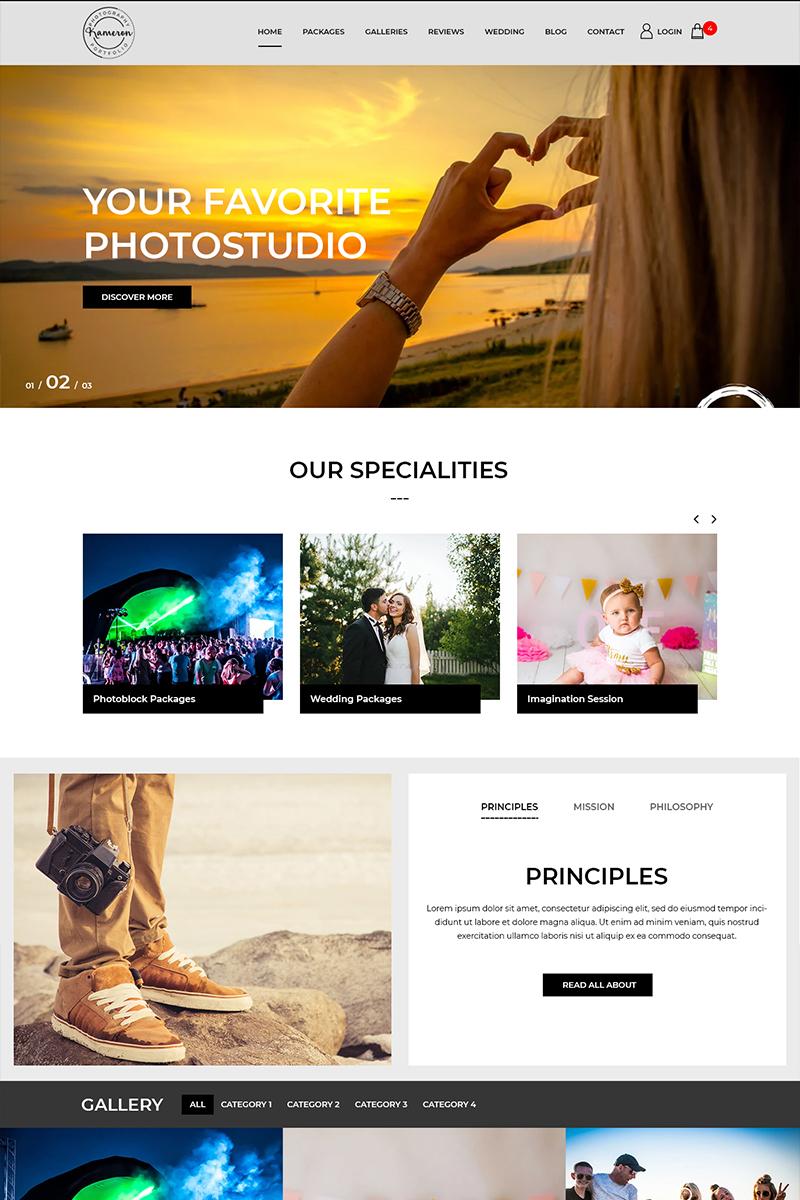 Kameron - Photography Studio PSD Template