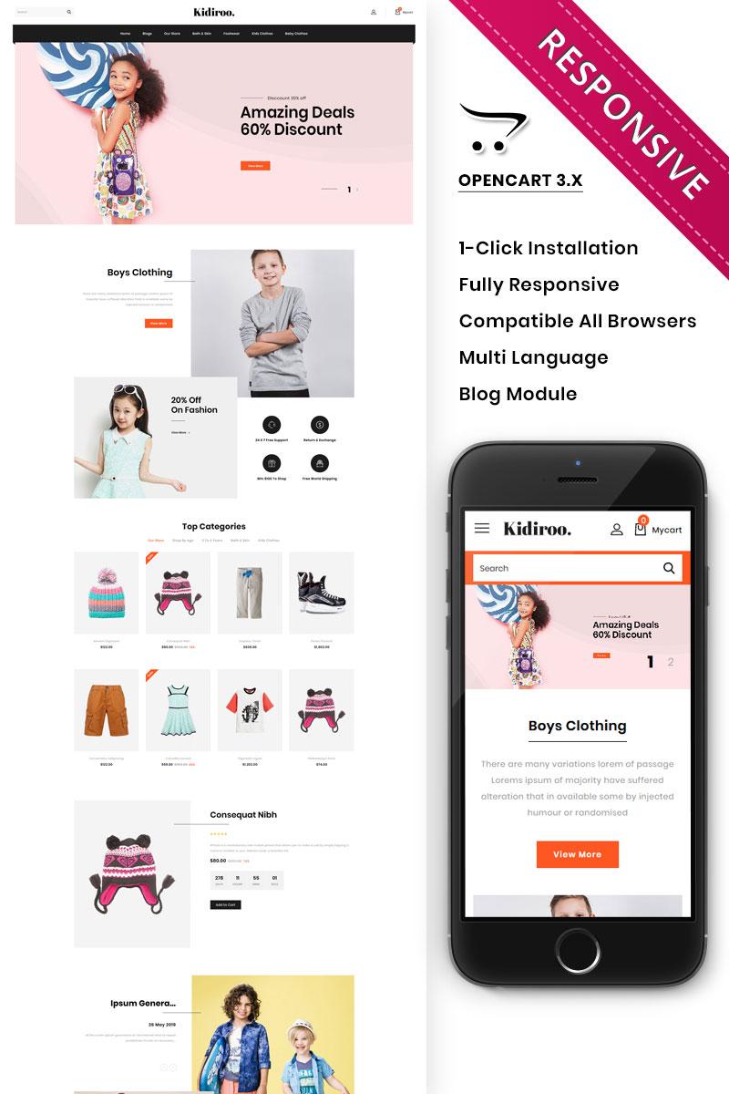 Kidiroo - The Kid Store Responsive OpenCart Template - screenshot