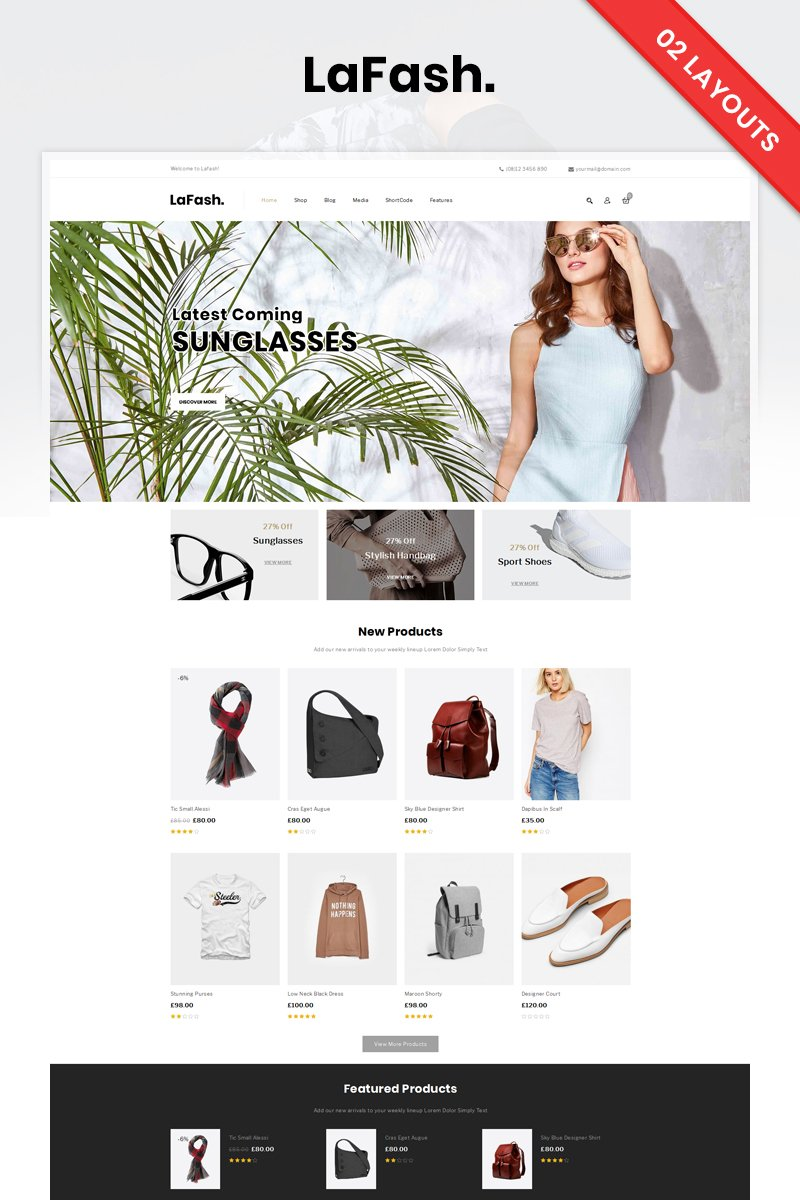 """LaFash Multipurpose Store"" thème WooCommerce adaptatif #82515 - screenshot"