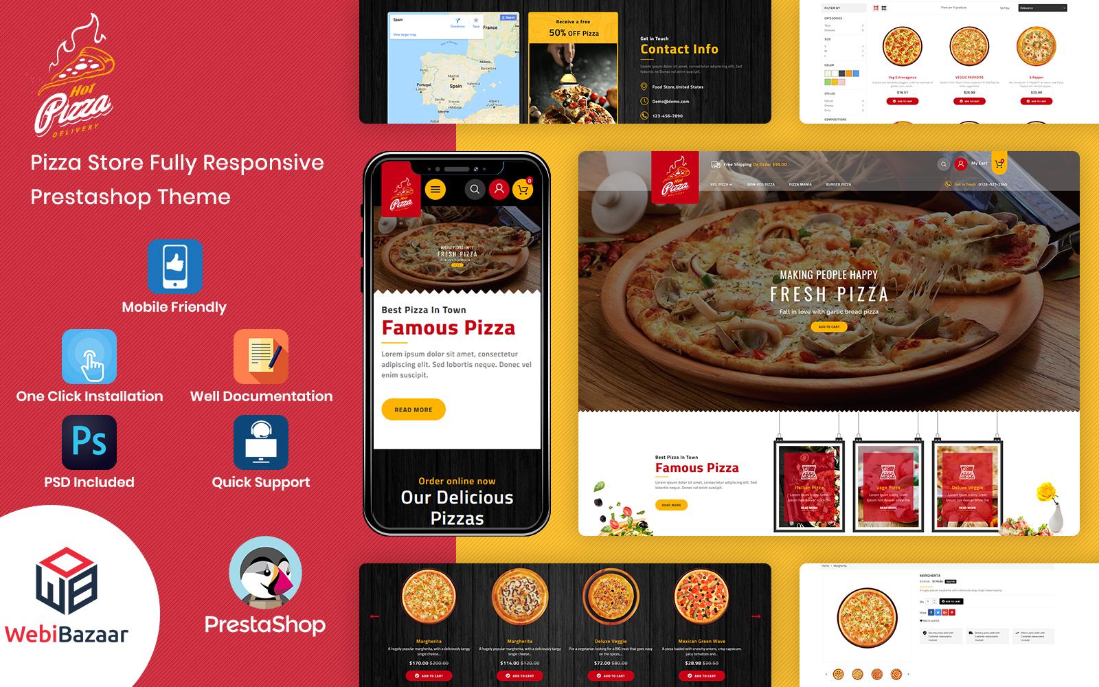 Pizza - Fast Food & Pizza PrestaShop-sjabloon