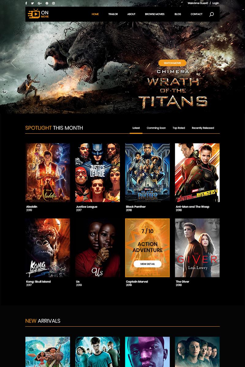 """PSD Vorlage namens """"On Movie - Online Movie"""" #82540"""