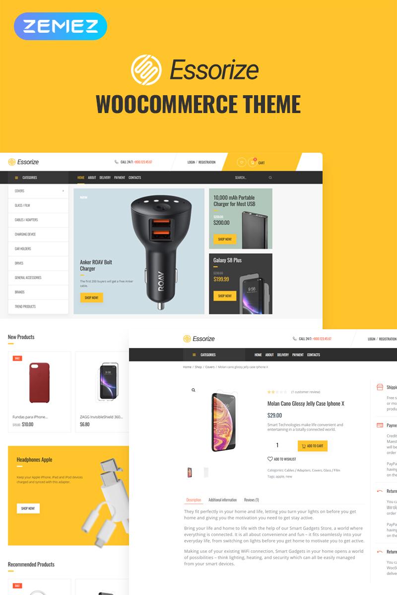 Responsivt Essorize - Electronics ECommerce Classic Elementor WooCommerce-tema #82524
