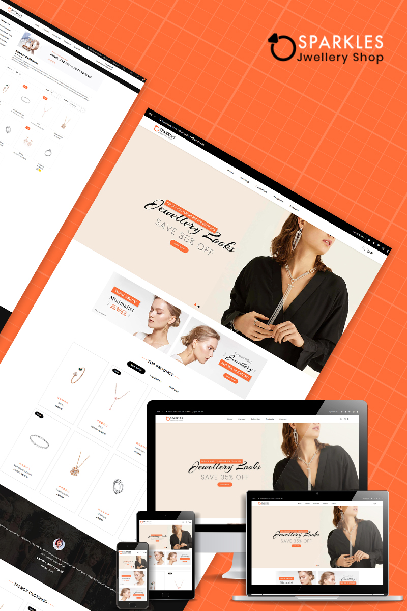 Sparkles - Jewelry Multipurpose Shopify Theme