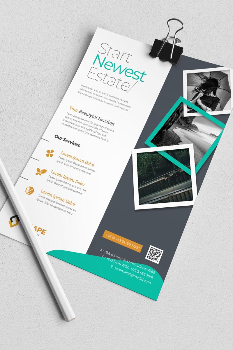 Start Newest Estate Flyer Corporate Identity Template - screenshot