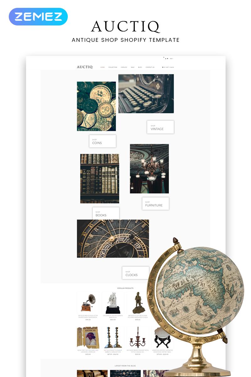 """Tema Shopify """"Auctiq - Antique Shop Clean"""" #82574"""